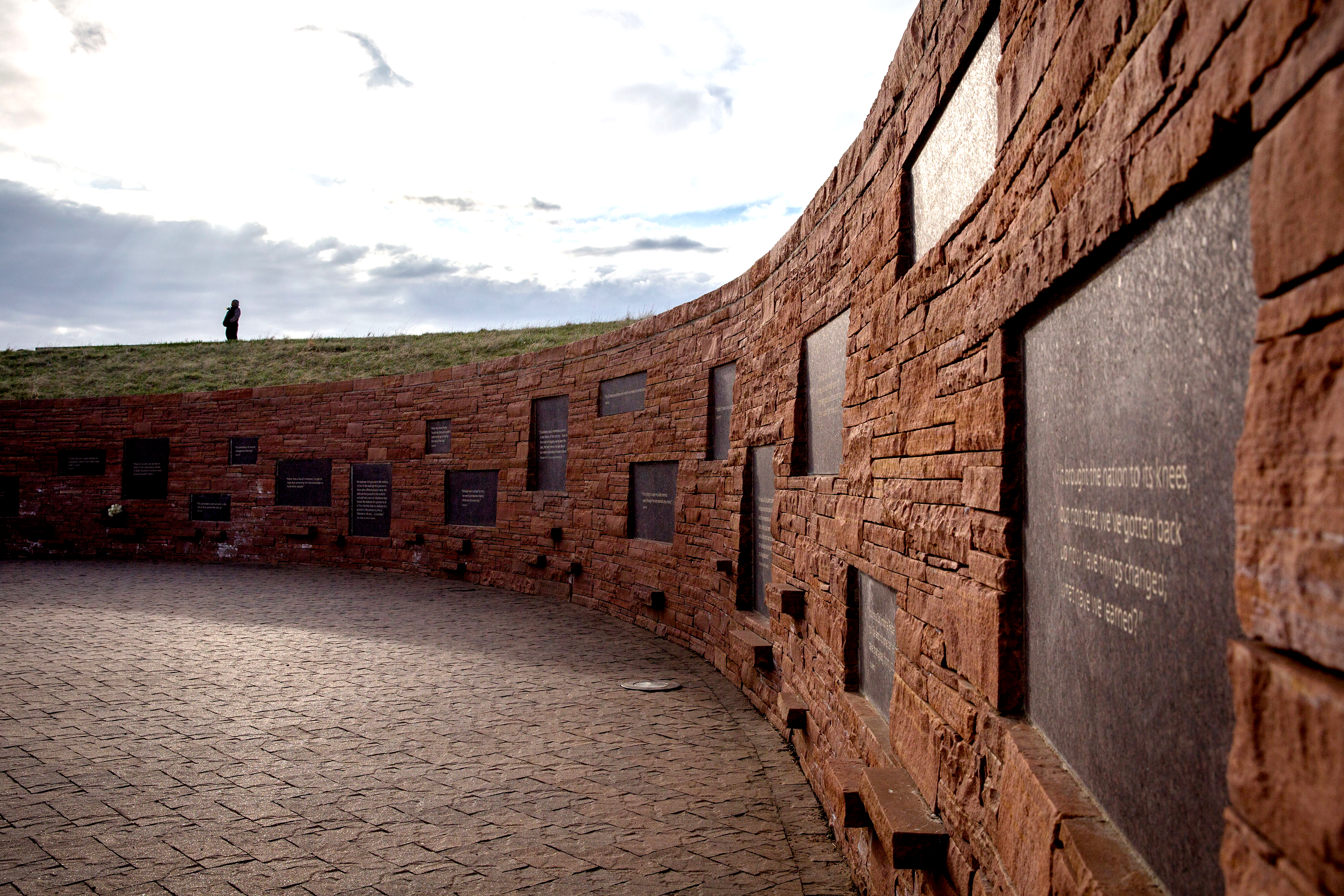 <p>The Columbine Memorial Wednesday morning April 17 2019.</p>
