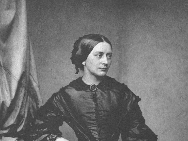 Clara Schumann, ca. 1850, photograph by Franz Hanfstaengl
