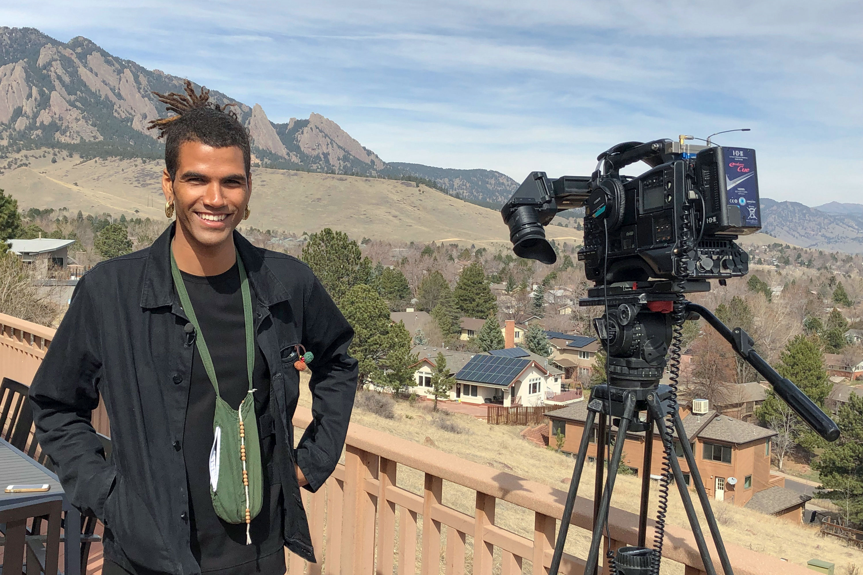 <p>In this undated photo provided by lawyer Siddhartha Rathod, Zayd Atkinson poses for a photo. Atkinson was picking up trash outside his dormitory when a white police officer in Boulder, Colo., detained him in March, 2019. The officer, John Smyly, resigned this week under an agreement with city officials who found he had violated department policies.</p>