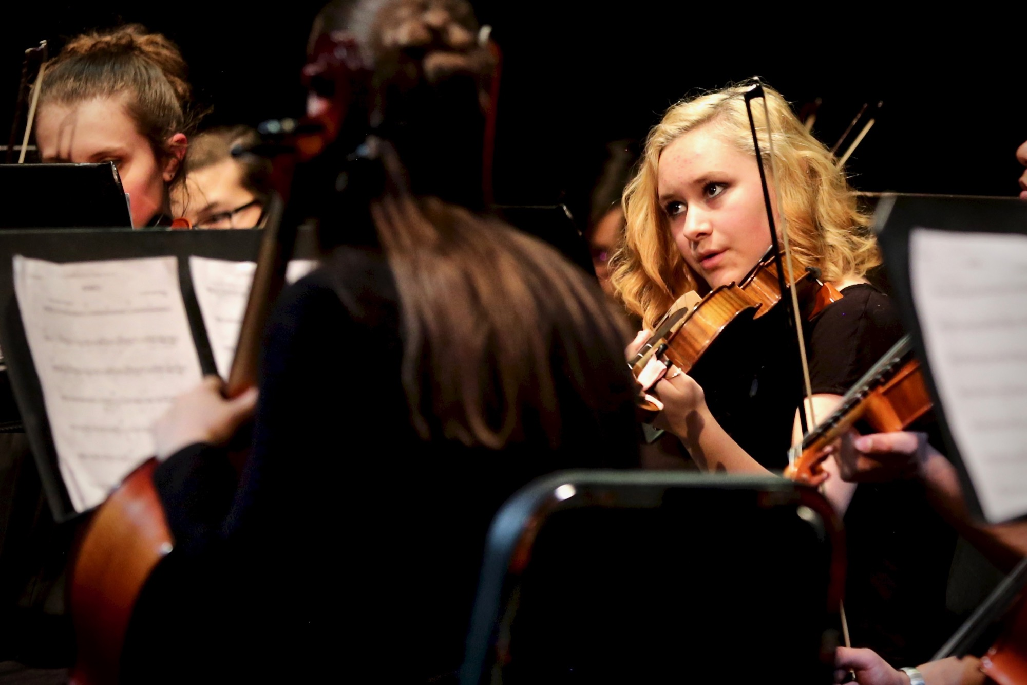 Scenes from Columbine High School's grand finale concert Thursday night, April 18.