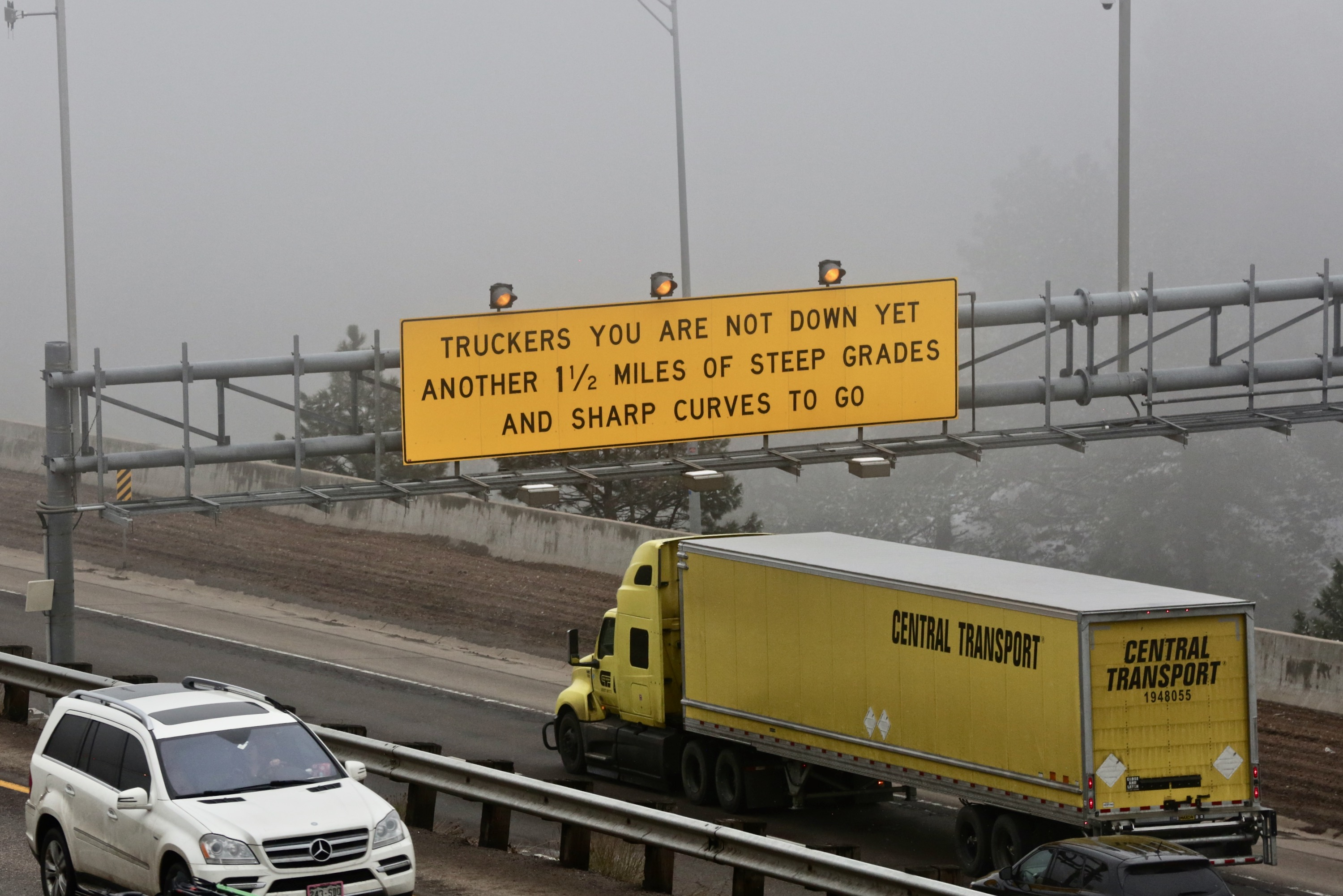 """<p>The 'Truckers Don't Be Fooled"""" signs on I-70 came to be after one historicfatal crash.</p>"""