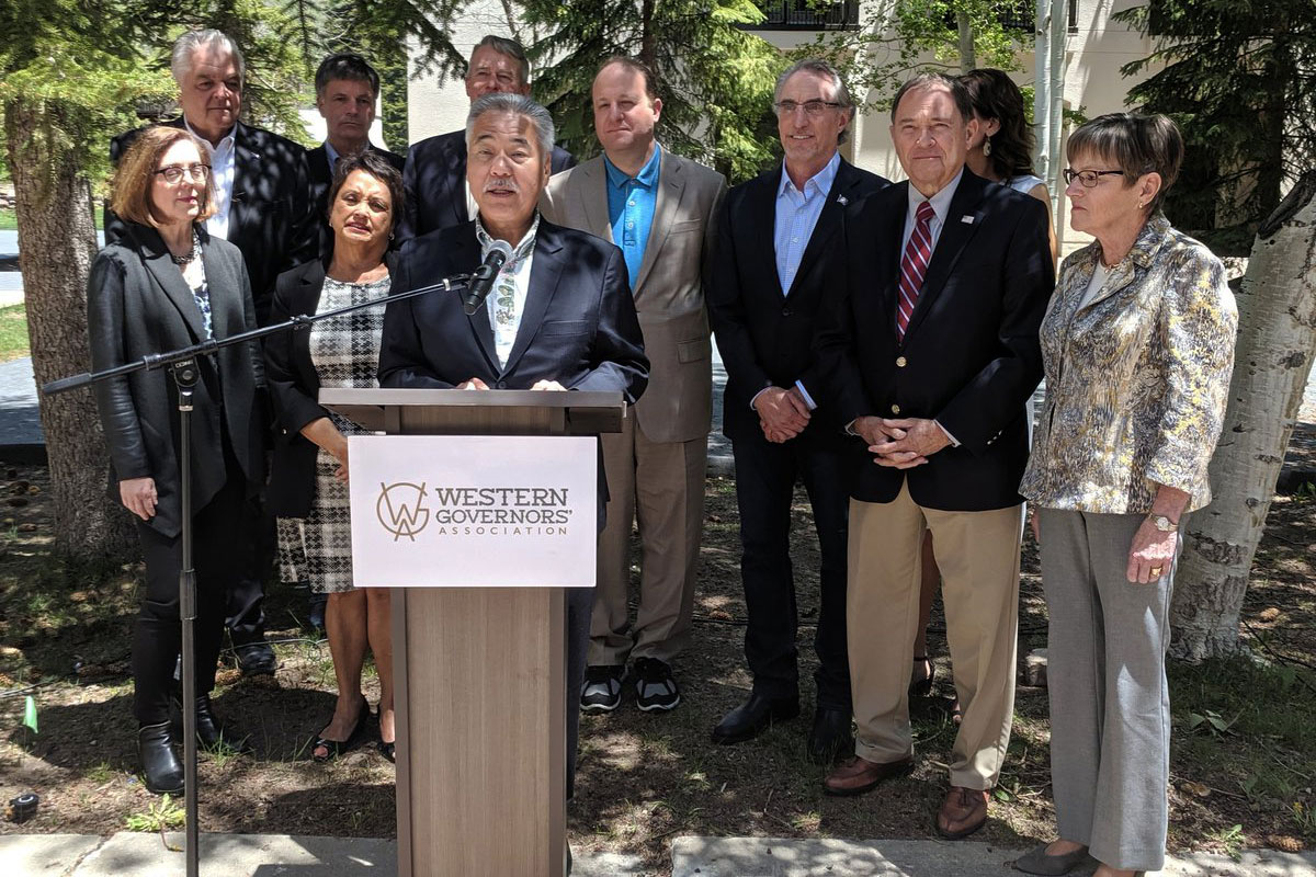 <p>Gov. DavidIge of Hawaii givesopening remarks at the Western Governors' Association's annual meeting in Vail on Monday, June 10, 2019.</p>  <p></p>