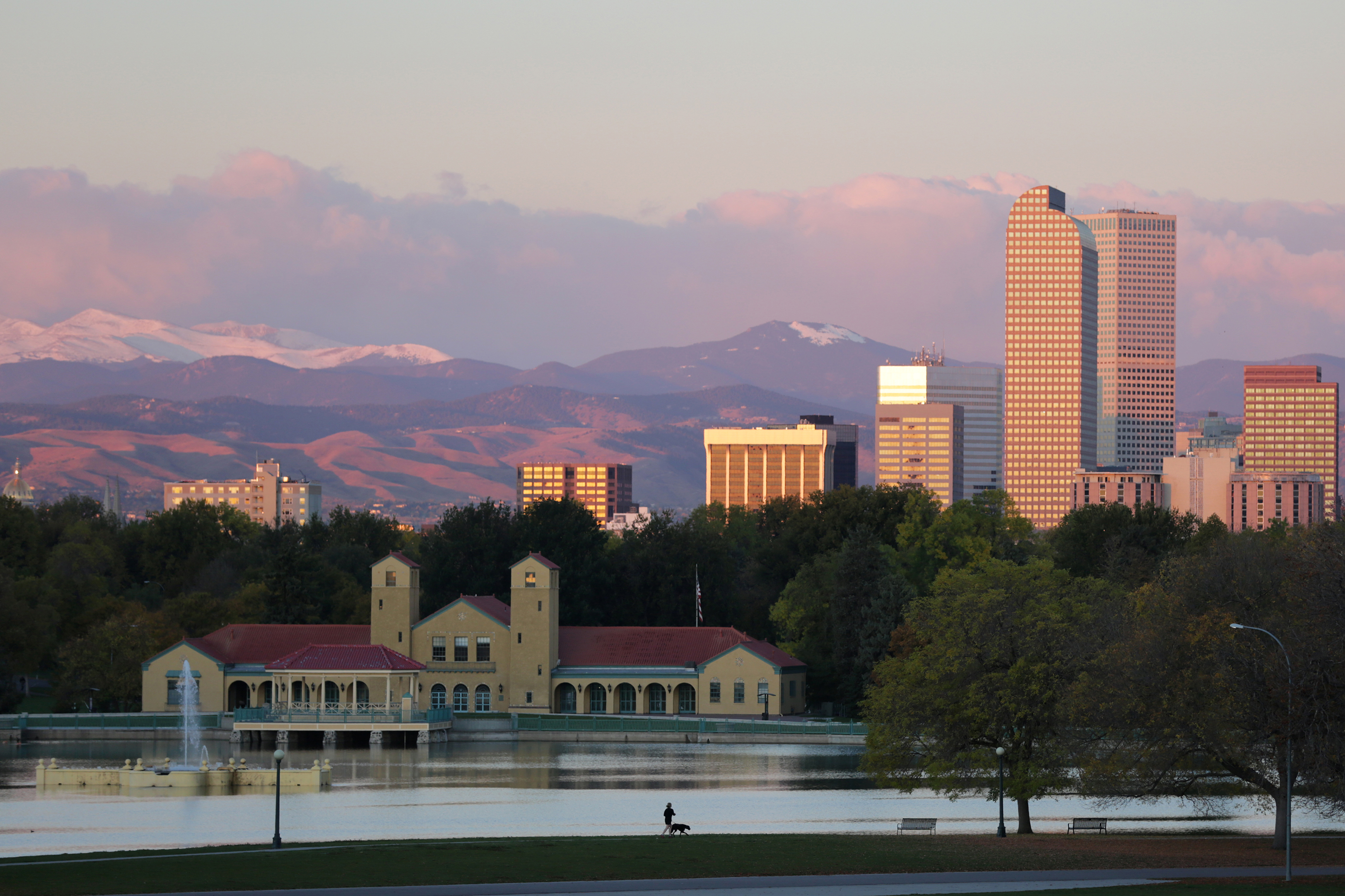 The Denver skyline.