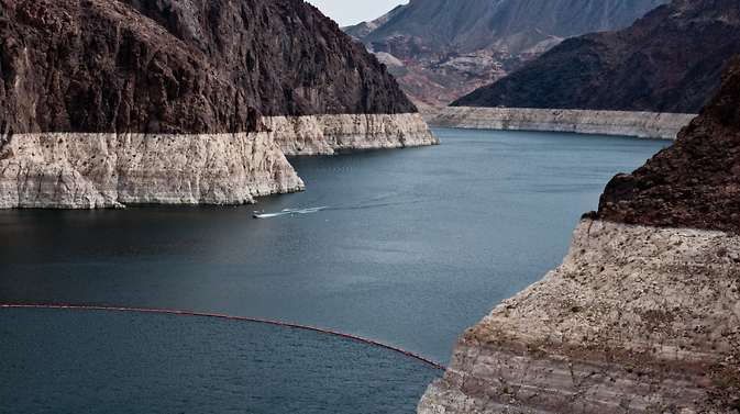 The Colorado River flows intoNevada and Lake Mead,the nation's largest reservoir.