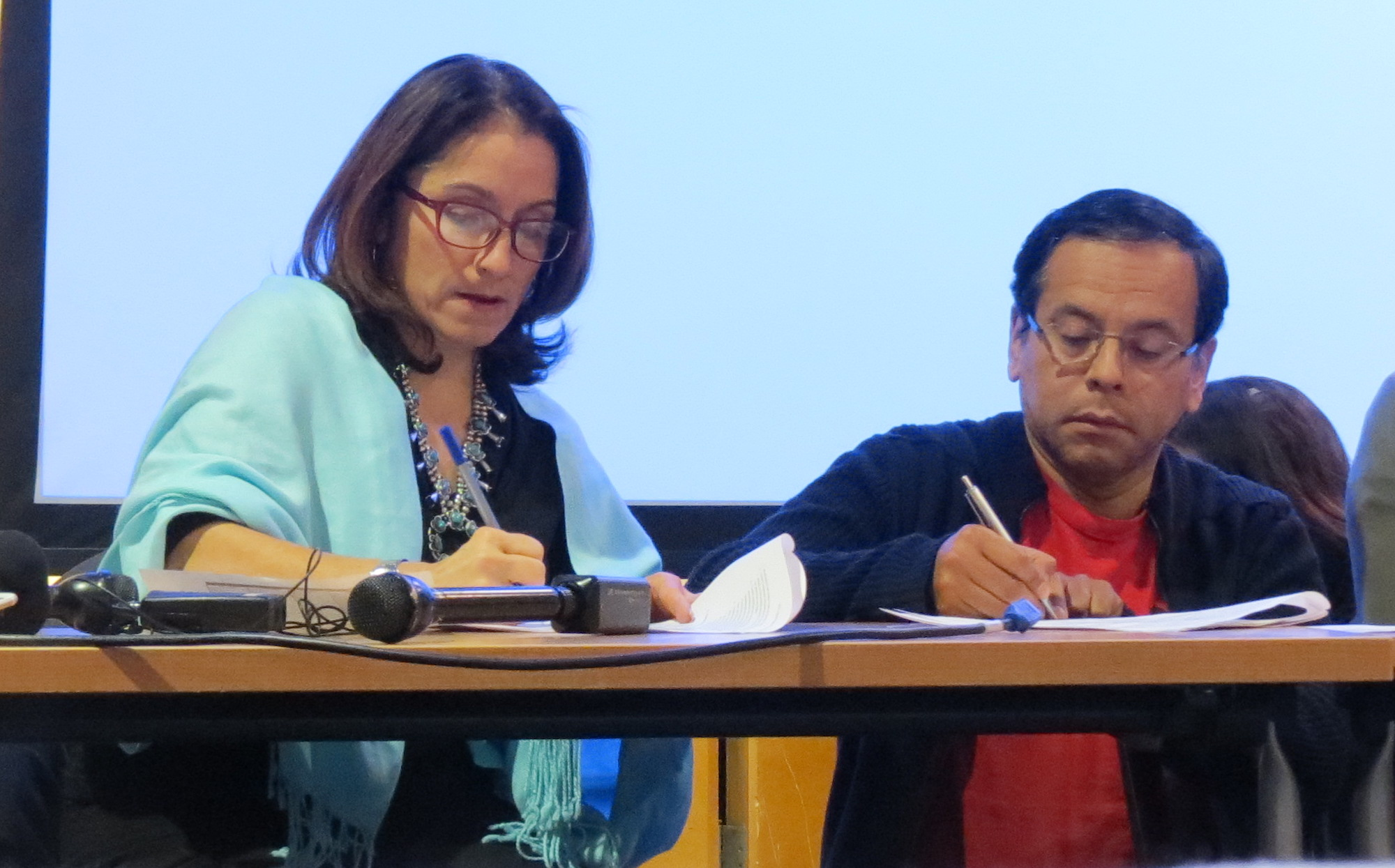 <p>DPS Superintendent Susana Cordova and DCTA President Henry Roman worked side by side during the all-nighter than ended the teacher strike.</p>