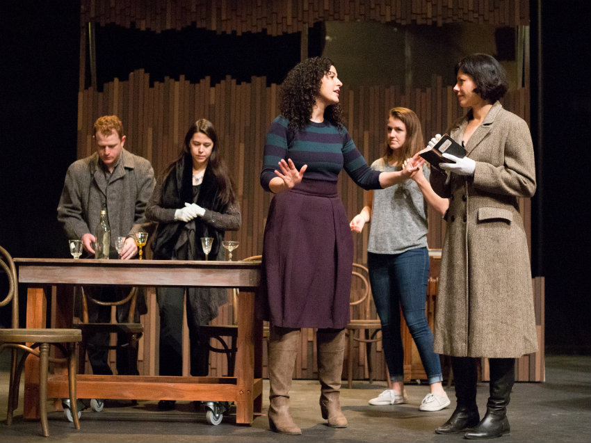 "<p>The cast of ""Steal a Pencil For Me"" in rehearsal.</p>"