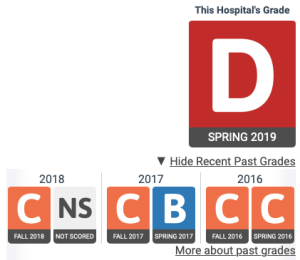 Prior to the 'D' grade given this spring, the Regional Medical Center in Alamosa was rated a 'C.'