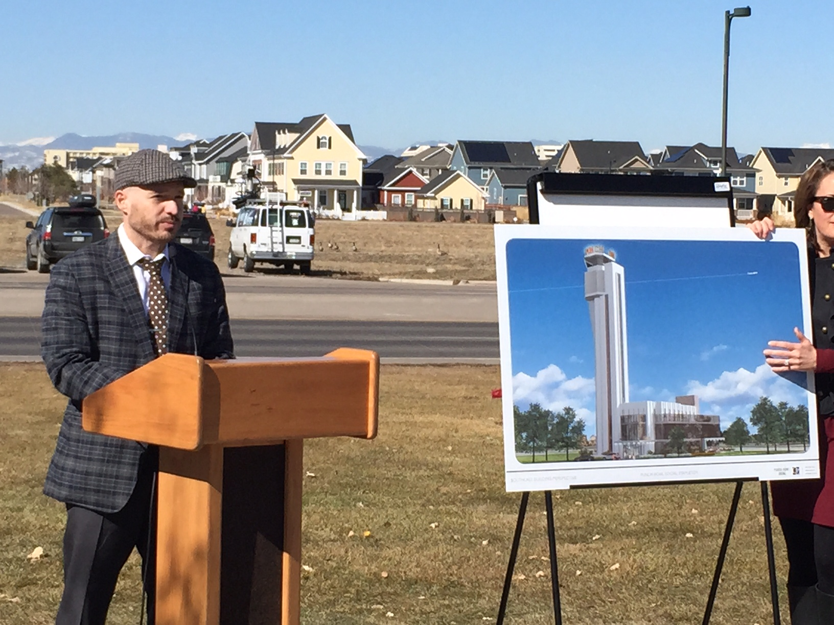 <p>Punch Bowl Social Founder Robert Thompson unveils Punch Bowl Social Stapleton. Restaurant and entertainment complex will be housed in the iconic Stapleton Airport control tower.</p>