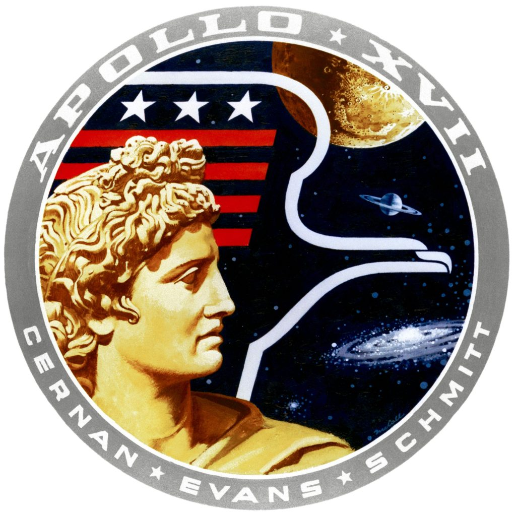 Mission patch for Apollo 17, the last in that program.