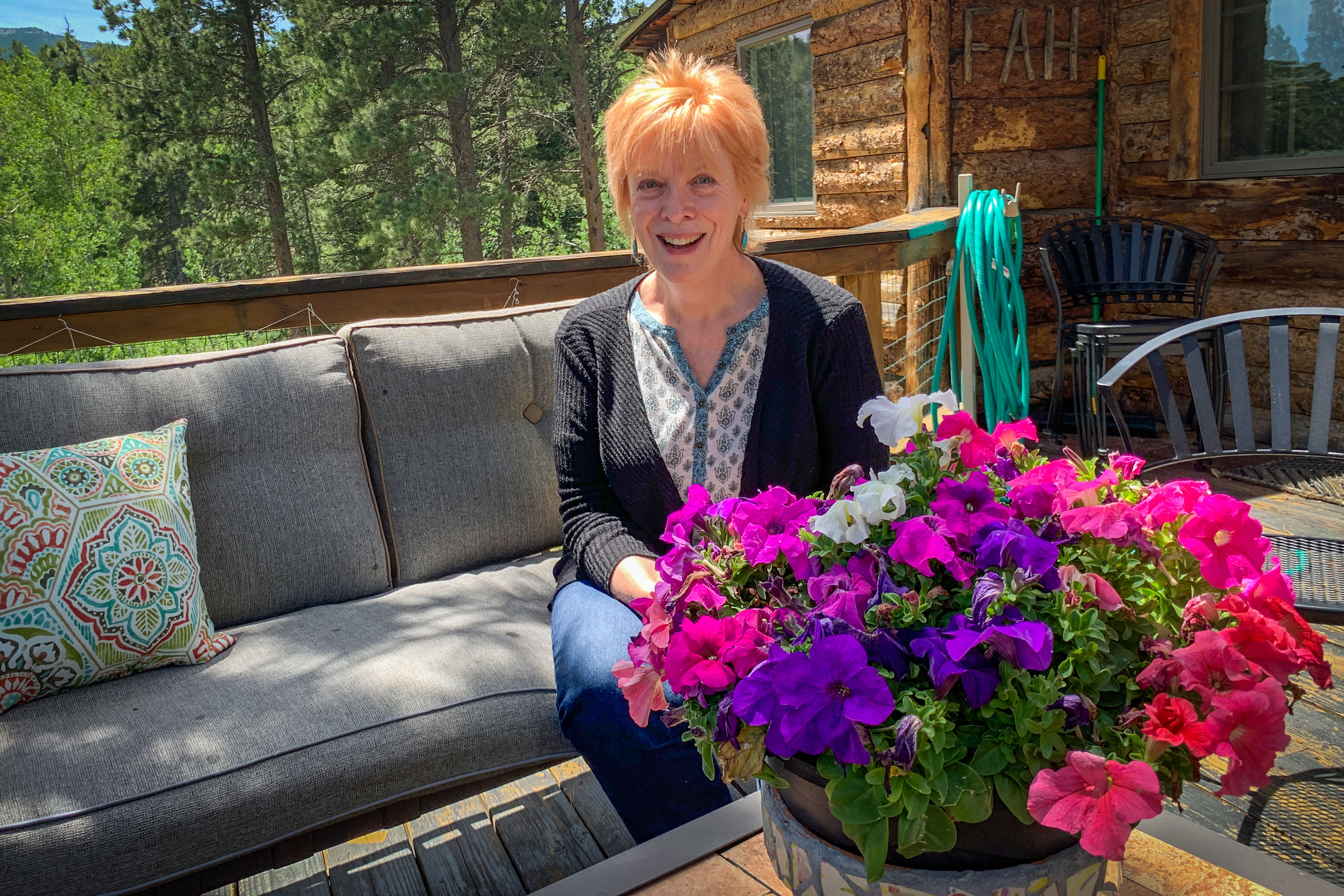 Edie DeWeese of The Allenspark Wind and an amateur historian for the former mining town.