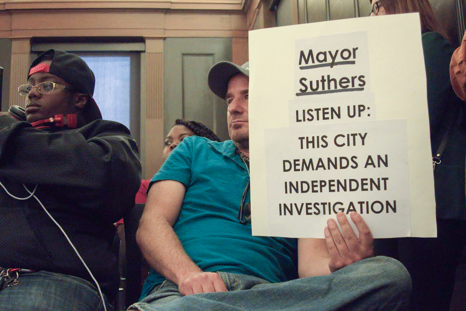 Concerned community members packed the chamber at City Hall on Tuesday, Sept. 10, 2019, for the at times emotional meeting. Many held protest signs, some had tears running down their face while others were visibly angry. They are upset the El Paso Sheriff's Department investigated Bailey's shooting and the county's District Attorney will decide whether the officers involved followed Colorado law.