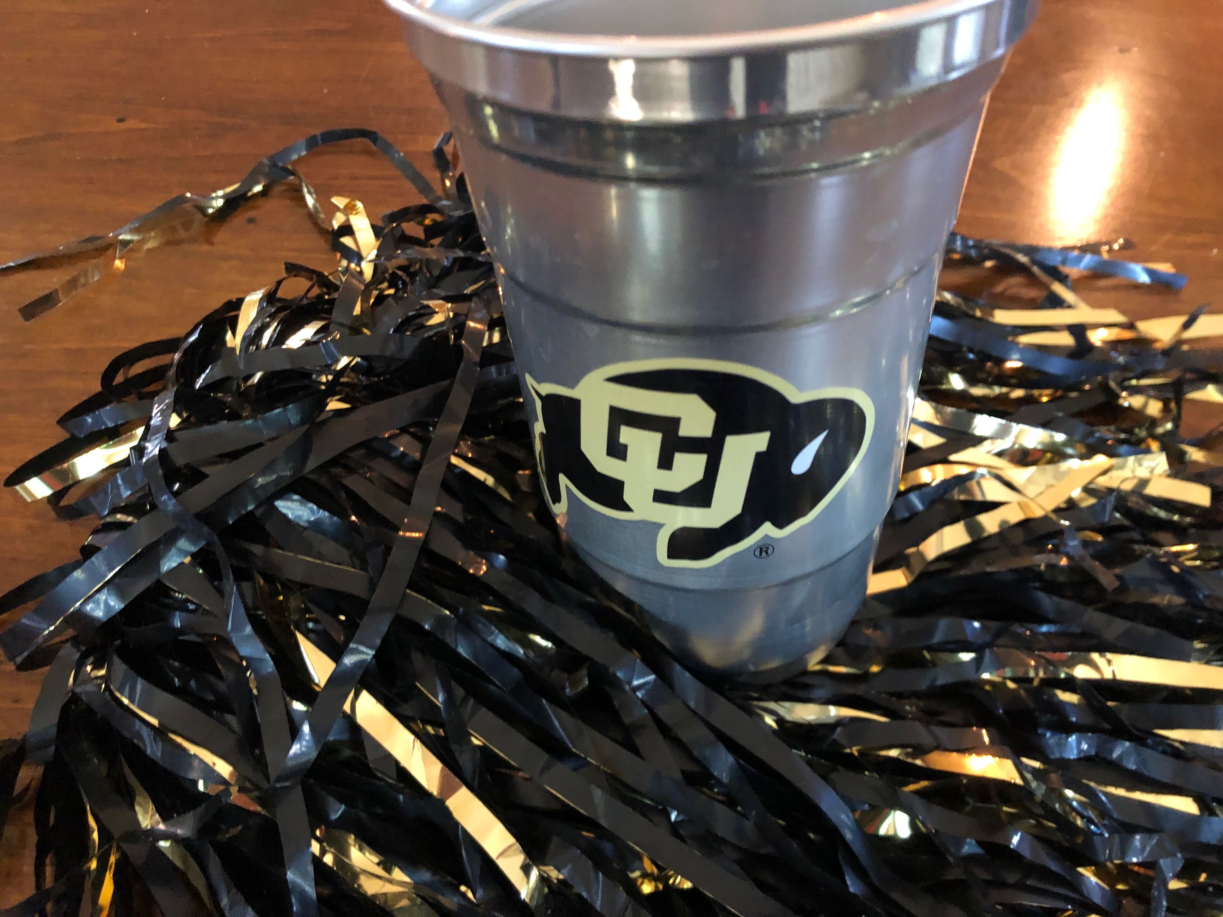 Ball Corporation's aluminum, disposable cup that replaced all plastic cups at CU Boulder's Folsom Field.
