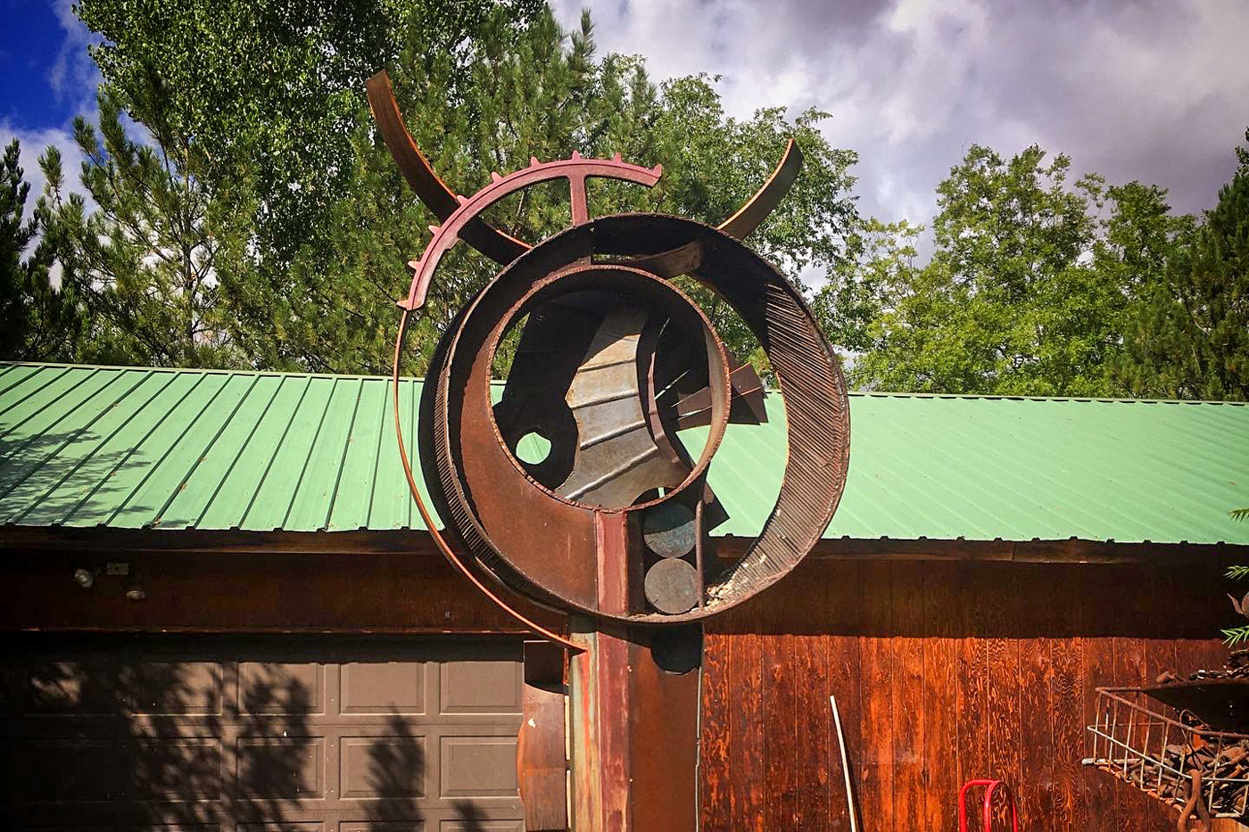 """This untitled work by the late Dave Davis will soon be installed on Main Street Grand Junction as part of the city's """"Art on the Corner"""" program."""