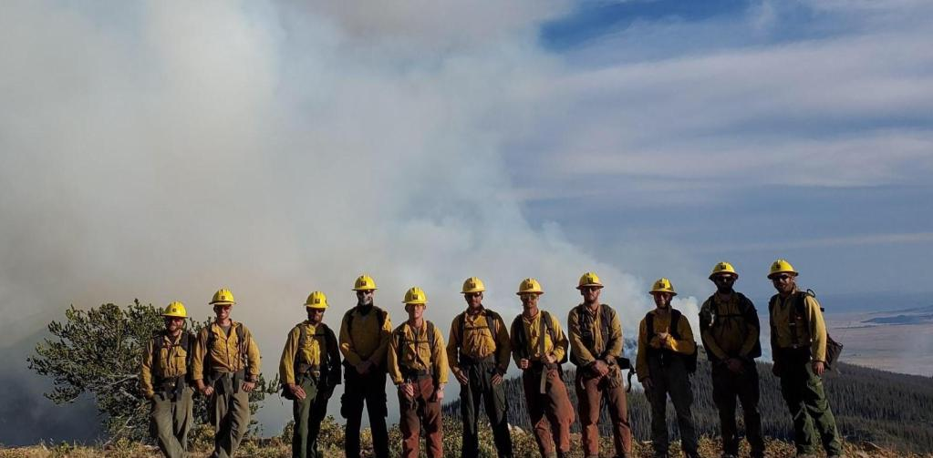 The Vet Corps fighting the Decker Fire.