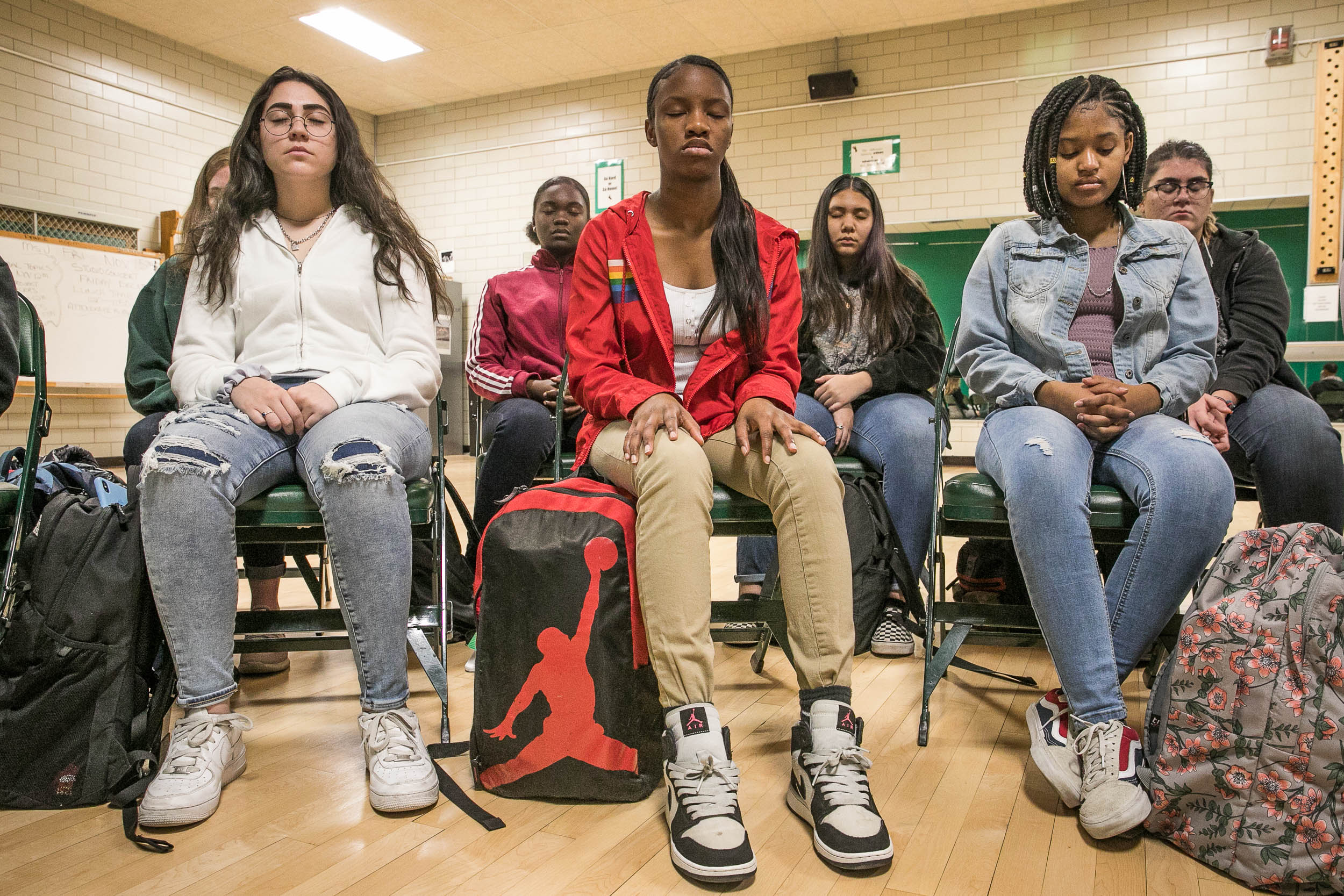 Teens George Washington High School Meditation Class