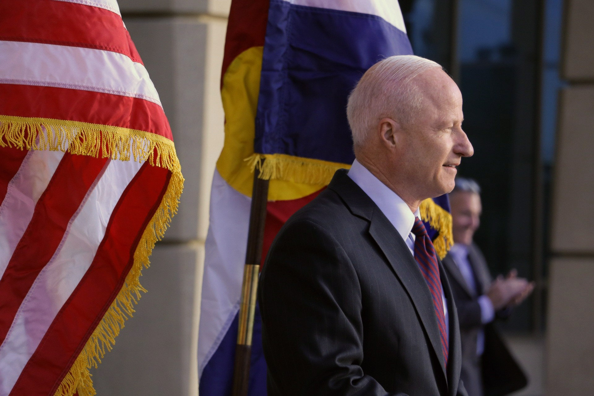 Former Rep. Mike Coffman declares victory in Aurora mayoral race on Thursday, Nov. 14, 2019.