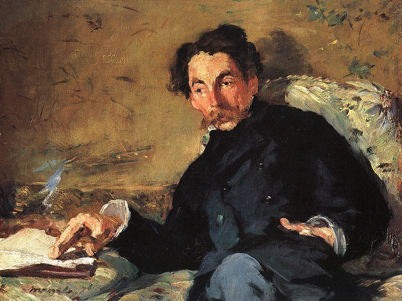 Portrait of poet Stéphane Mallarmé by Édouard Manet