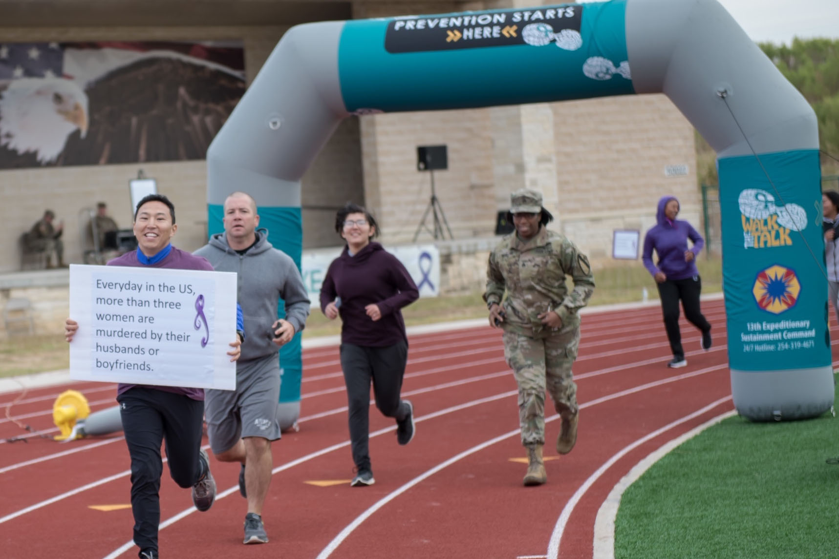 Domestic violence event raises awareness at Hood Stadium