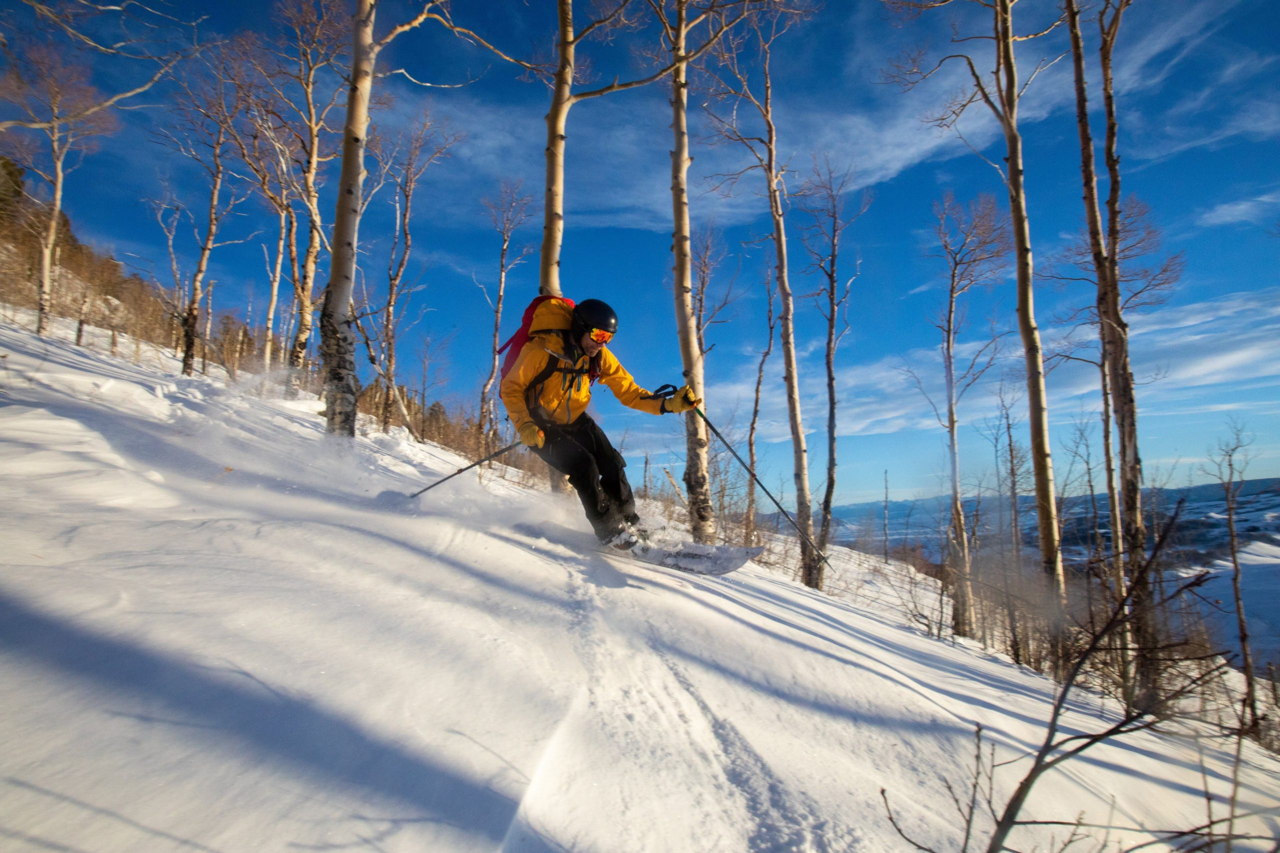 "Bluebird Backcountry is calling itself the world's first ""human-powered ski area"" and features 1,500 acres of skiing without a lift in sight."