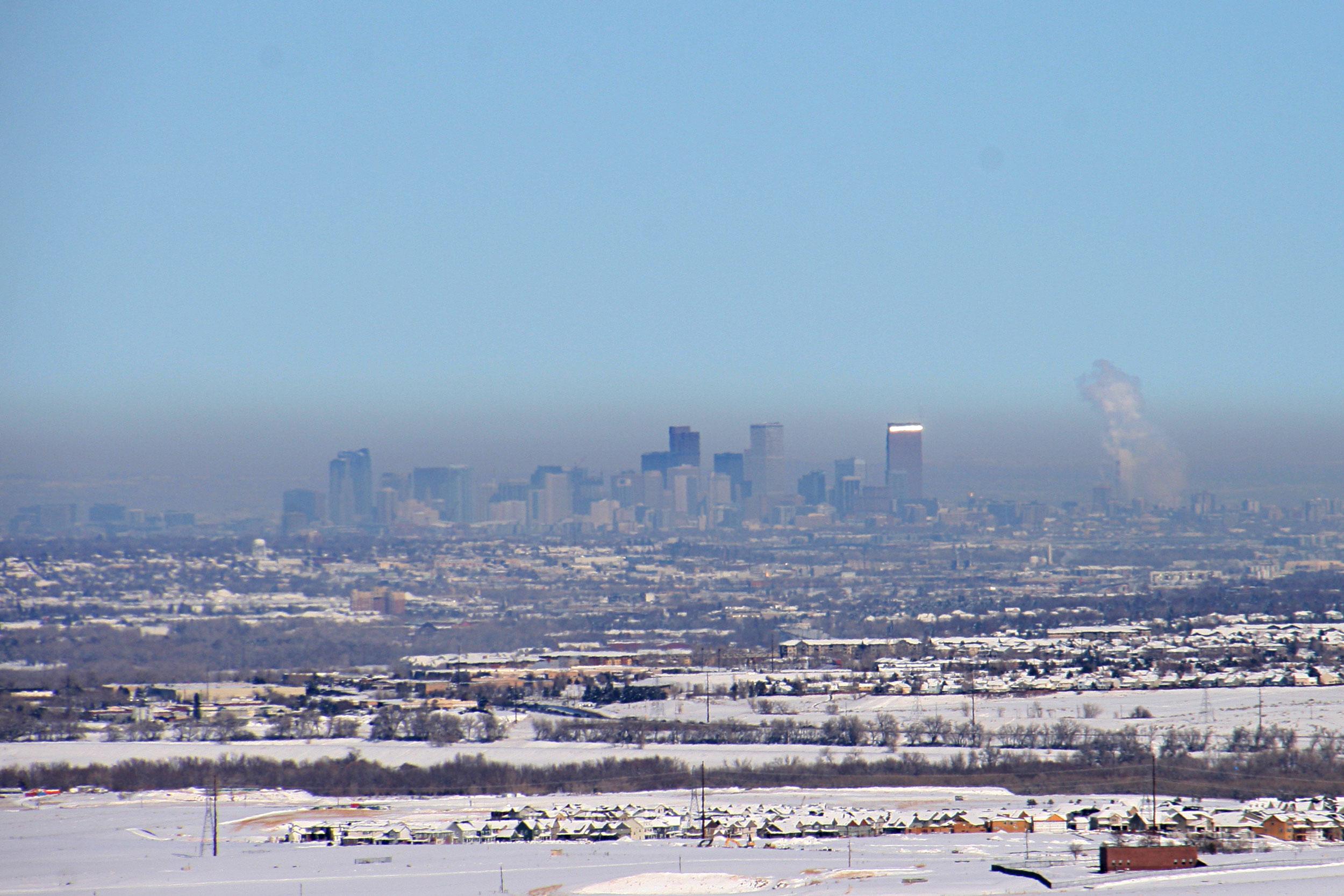 Air pollution over Denver