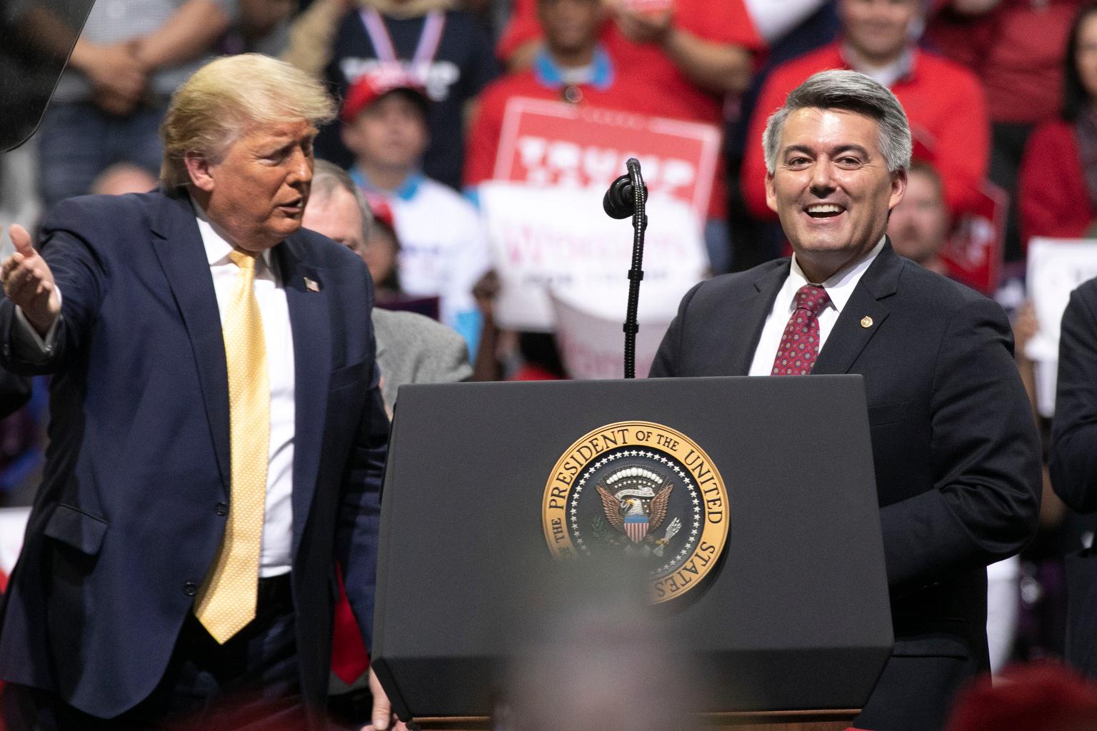 Trump Campaigns In Colorado Springs With Gardner