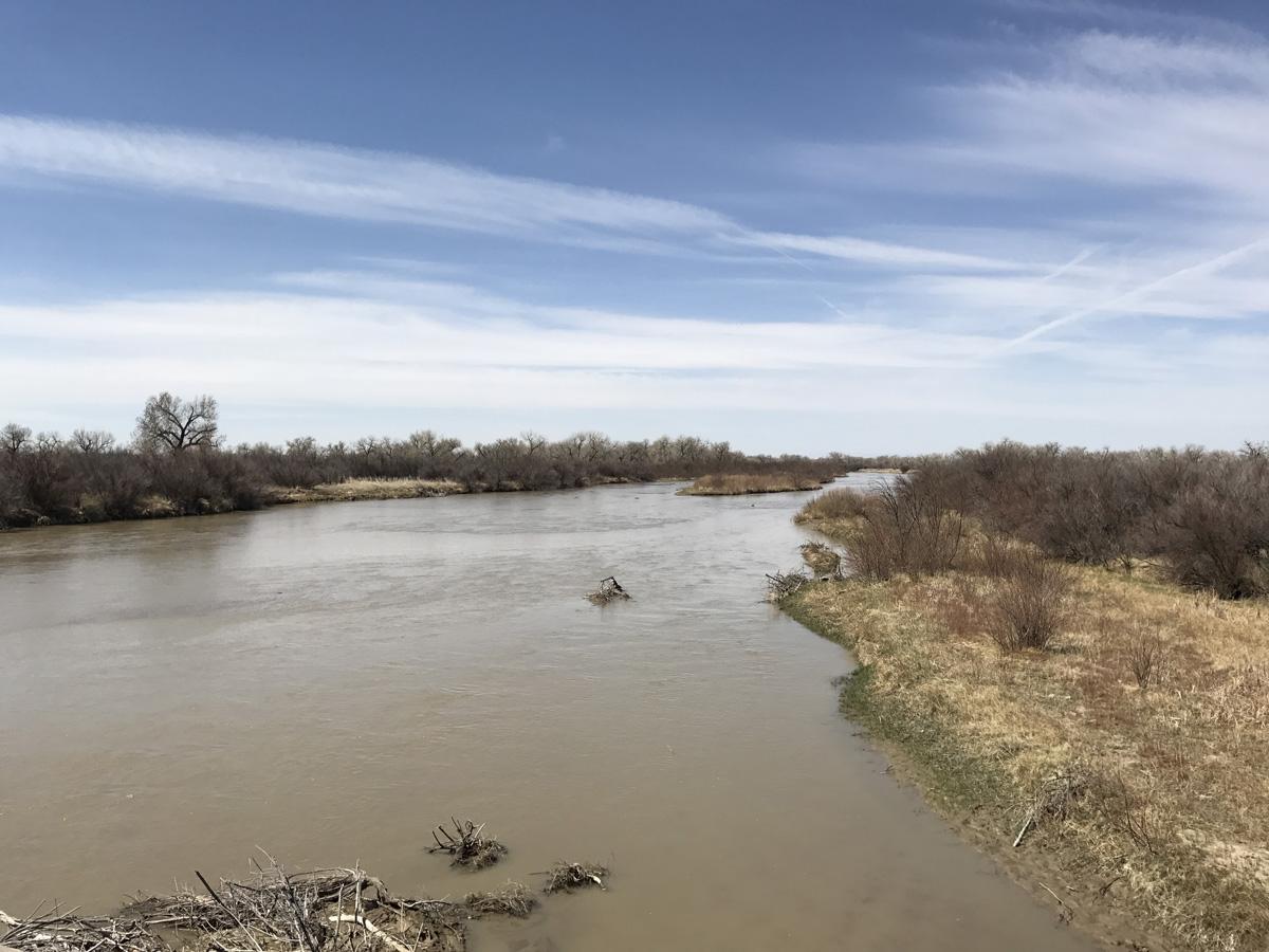 The Arkansas River near Rocky Ford, Colo.