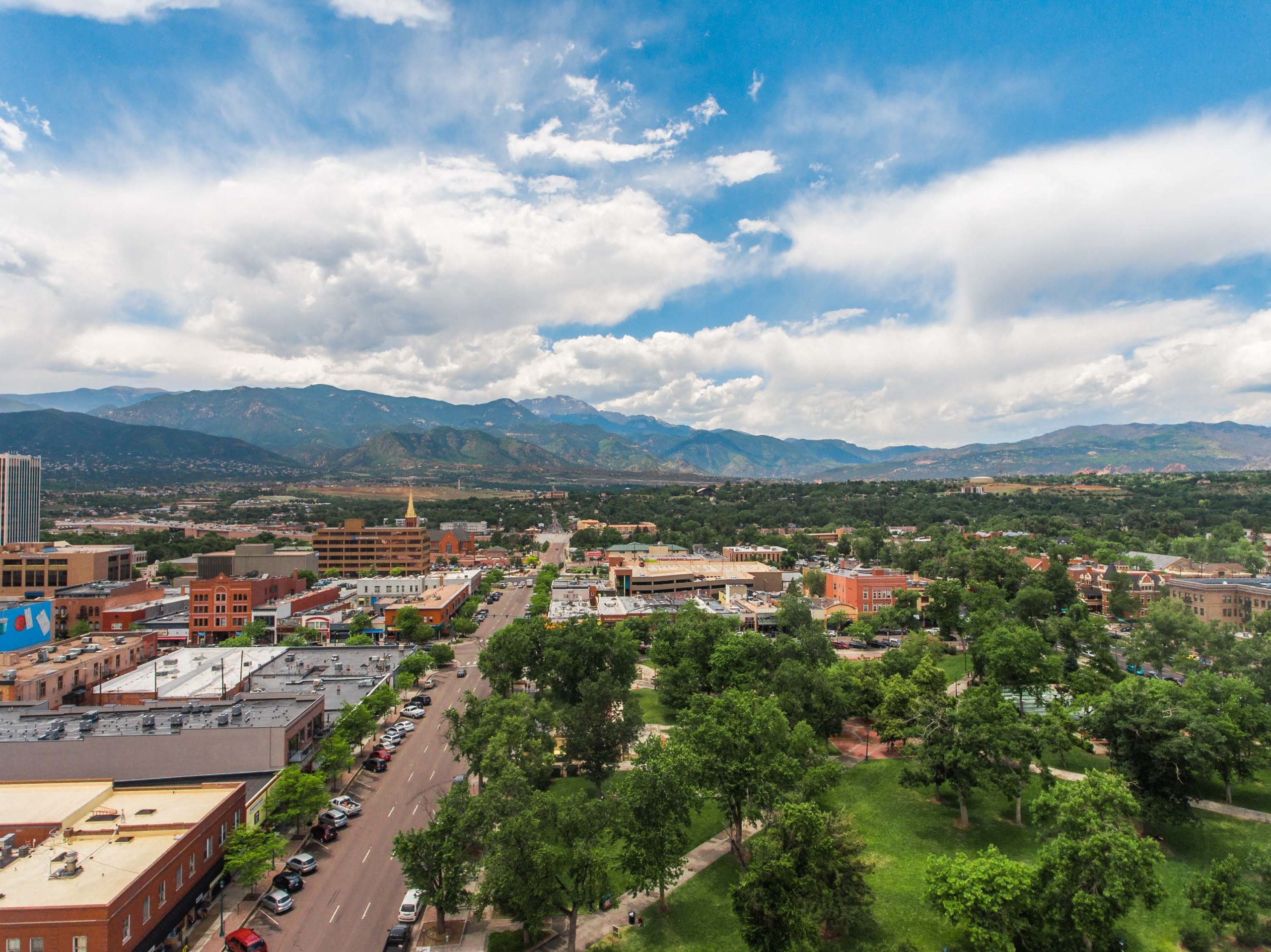 Downtown Colorado Springs in 2019.