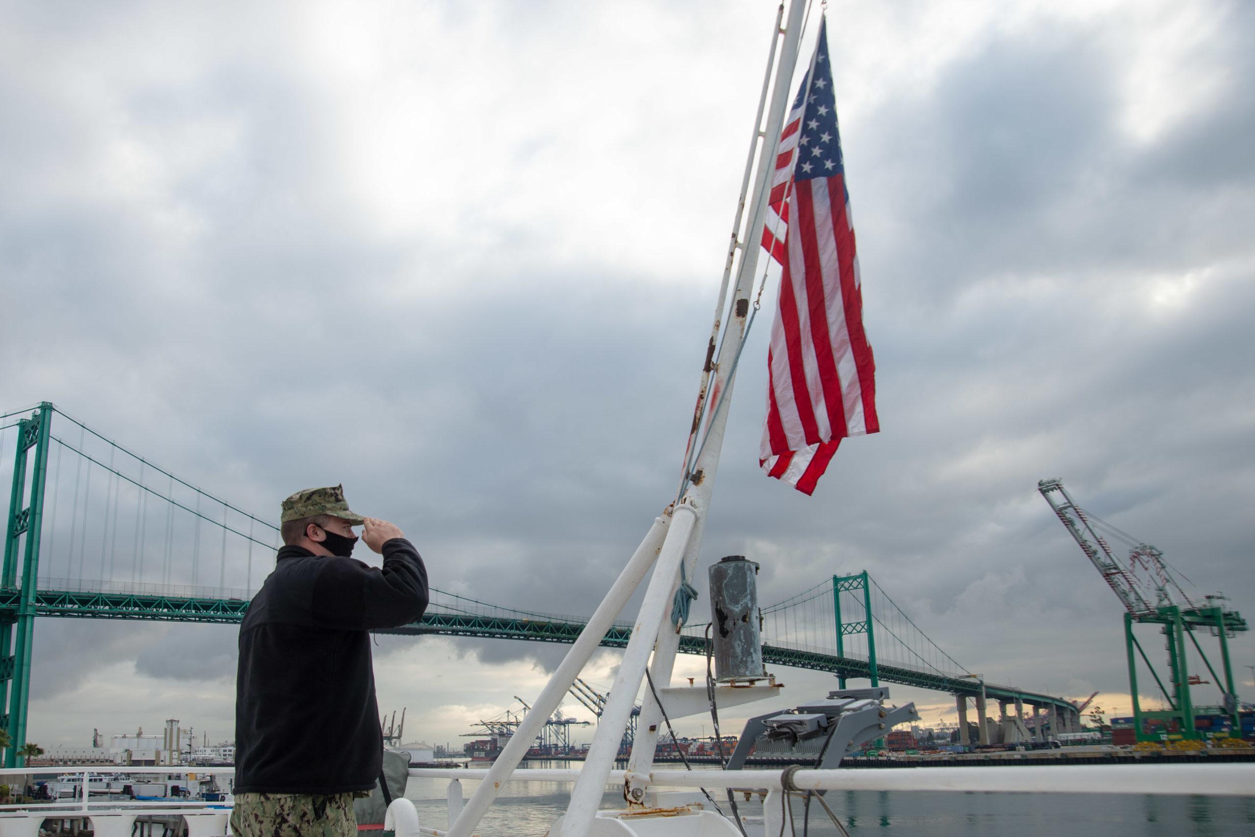 Sailor Renders Salute