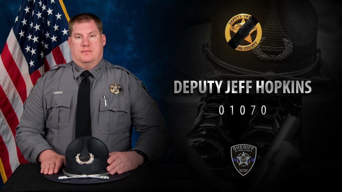 A memorial image of El Paso County Sherrif's Deputy Jeff Hopkins provided on the department's Twitter page.