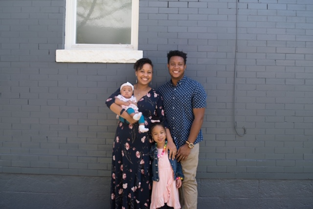 Rebecca Green, her husband Jason Green and her daughters, Ellington and Kensington. Rebecca gave birth to Kensington just before COVID-19 swept through Colorado. Her postnatal care has changed because of the pandemic.