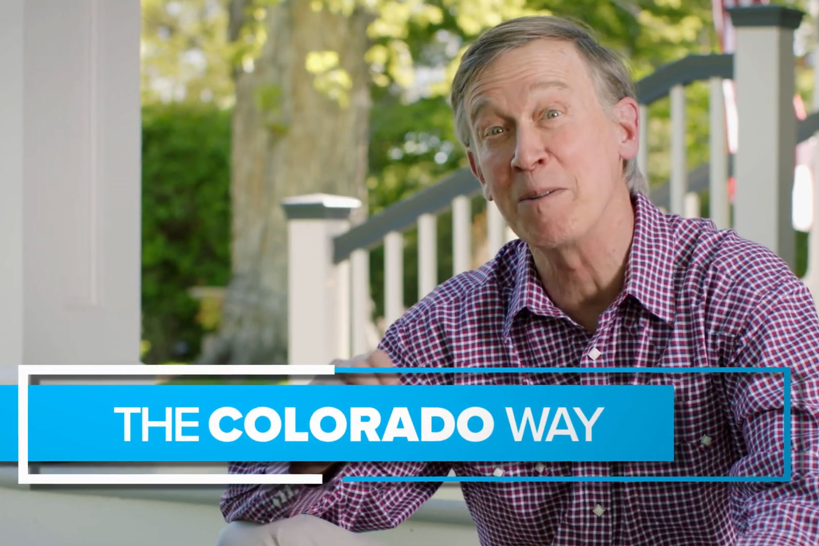 A screencap from candidate John Hickenlooper's first primary ad that is running ahead of the June 30 primary election day.