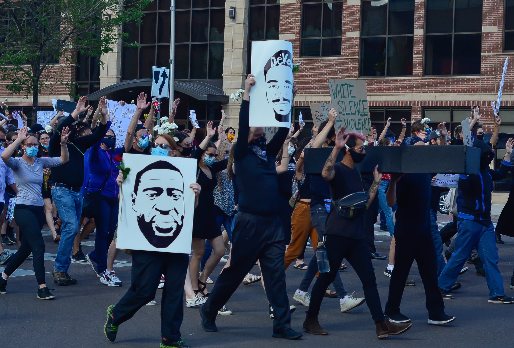 A photo from a funeral procession on June 11, 2020, remembering people in Colorado Springs killed by police.