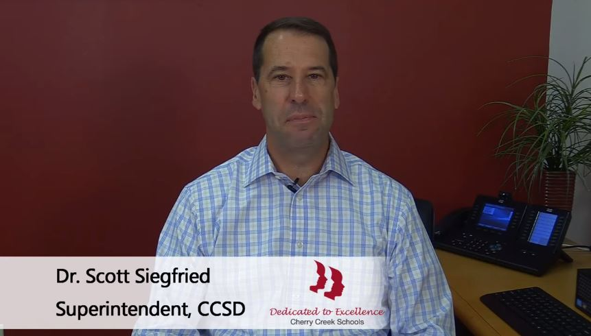 Cherry Creek Schools Superintendent Scott Siegfried
