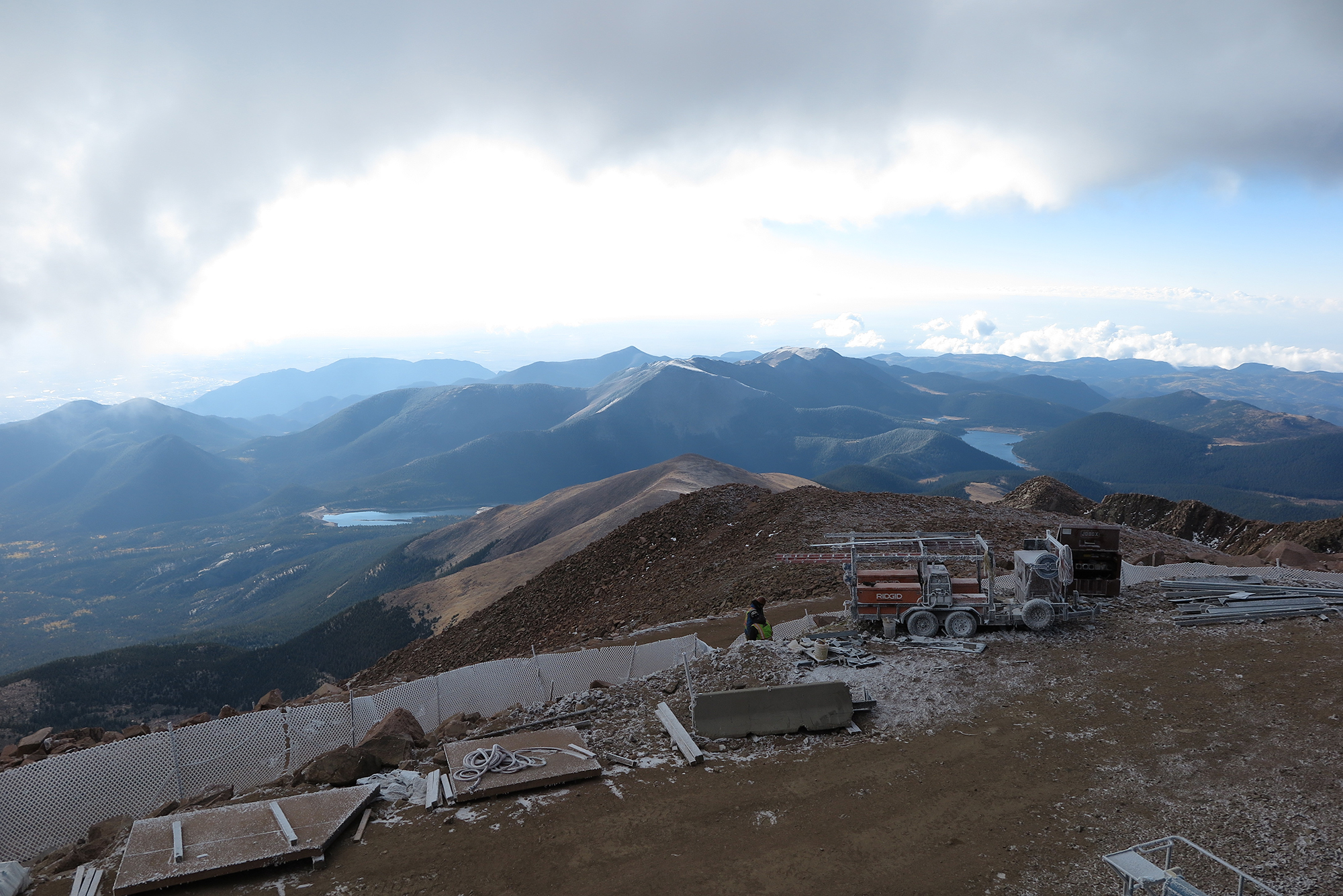 "The 14,115 foot summit of Pikes Peak, the view from which inspired the poem ""America the Beautiful,"" attracts nearly 600,000 visitors annually."