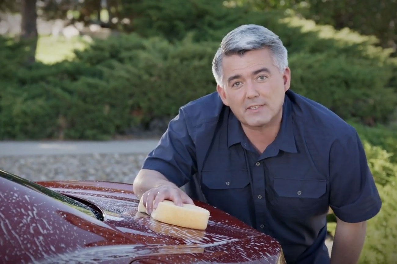 "A screencap still from a Cory Gardner 2020 Senate race political ad titled ""Only One."""