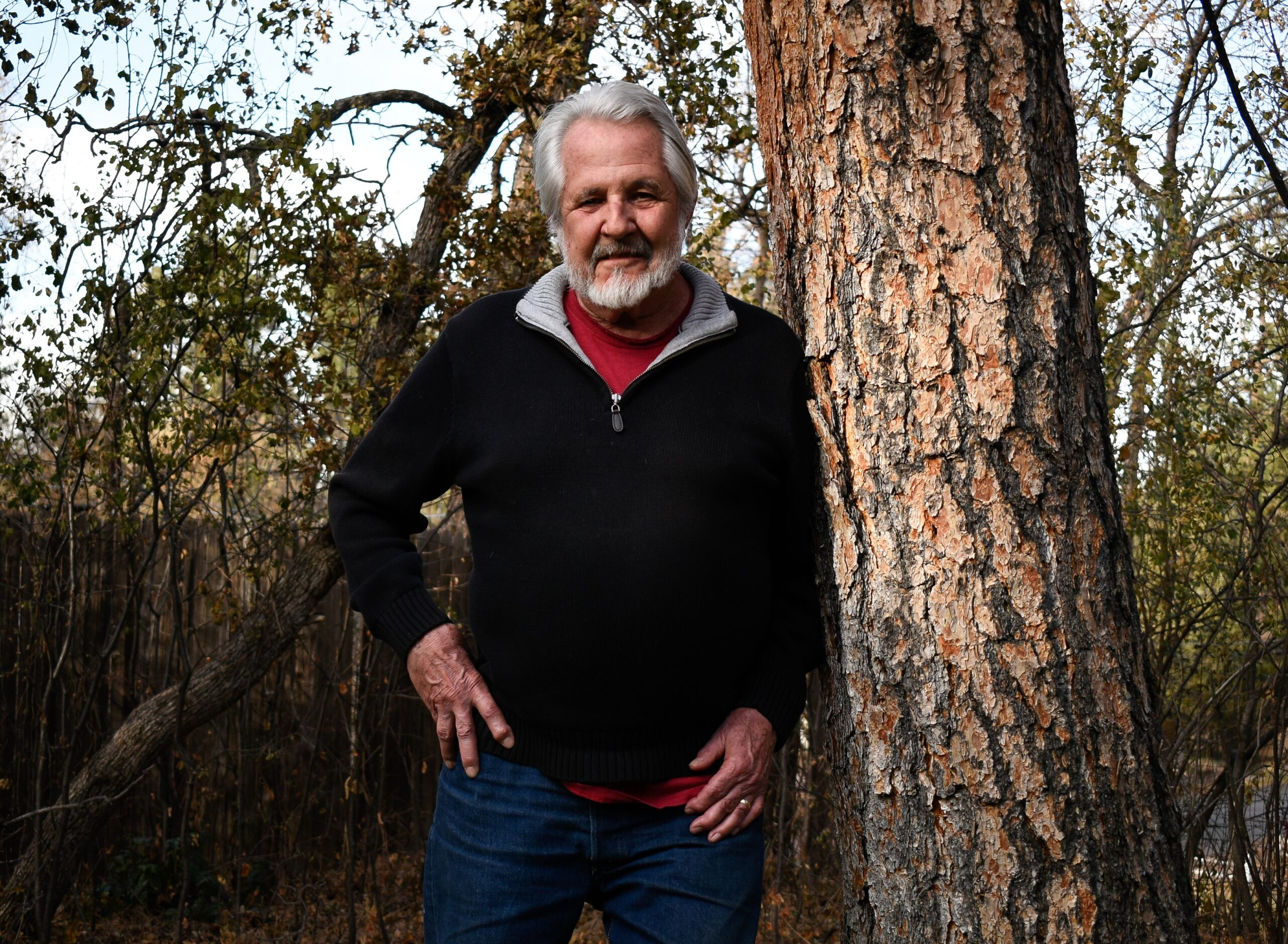 Kent Obee of POPS poses for a photograph on Election Day, Nov. 3, 2020. The measure he backed, Colorado Springs 2B, passed, making it now a requirement for any proposed sale or transfer of city-owned parkland to have voter approval.