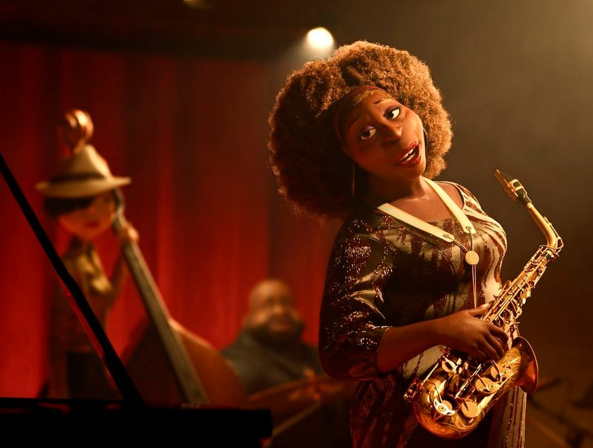 "Tia Fuller played the saxophone parts for the character of Dorothea Williams in the Pixar film ""Soul."""