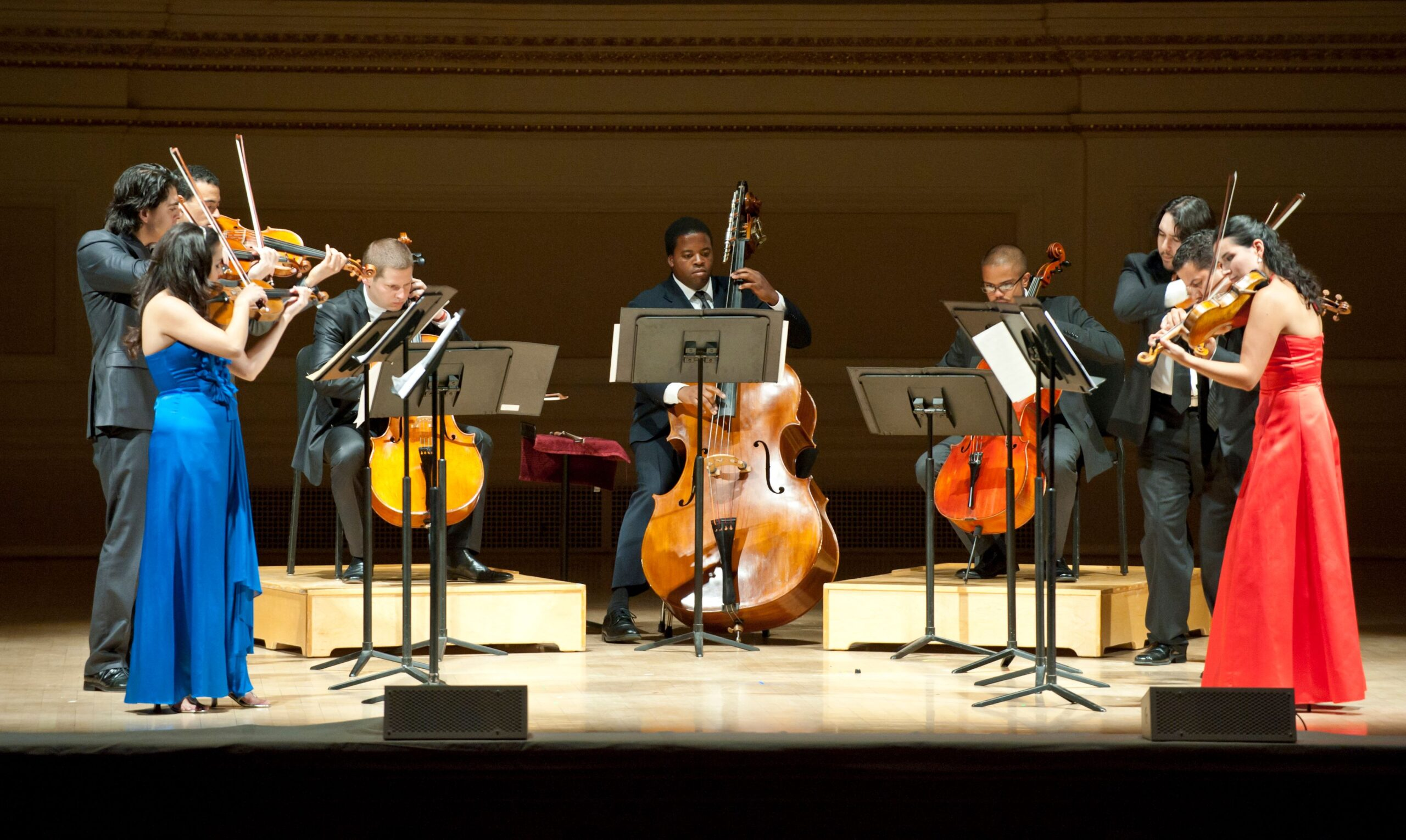 Members of the Sphinx Virtuosi chamber ensemble perform at Carnegie Hall.