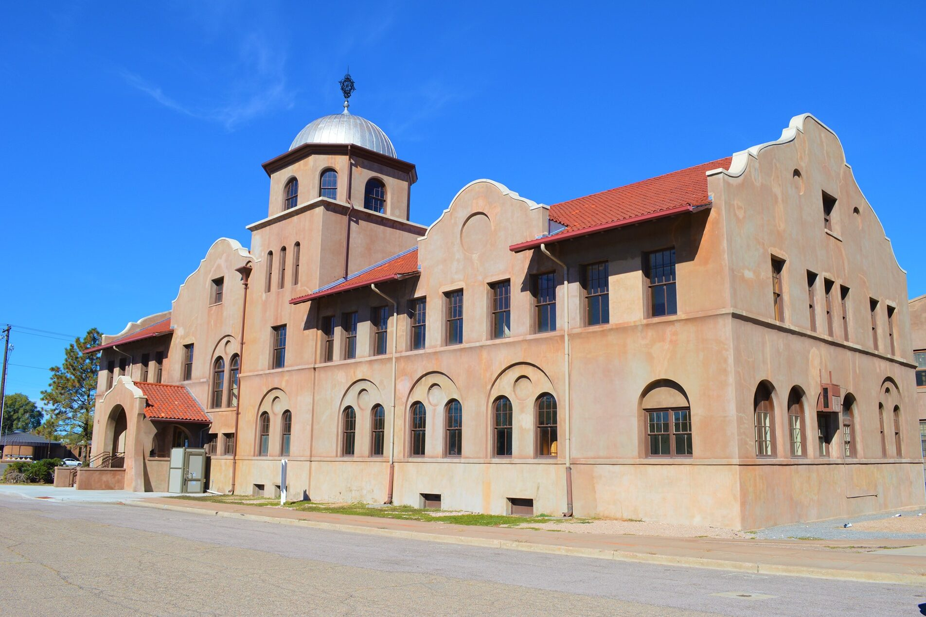 The Mission Revival style office building was once part of the headquarters of the Colorado Fuel and Iron Company. It's part of the company's former administrative complex in south Pueblo recently designated as a National Historic Landmark.
