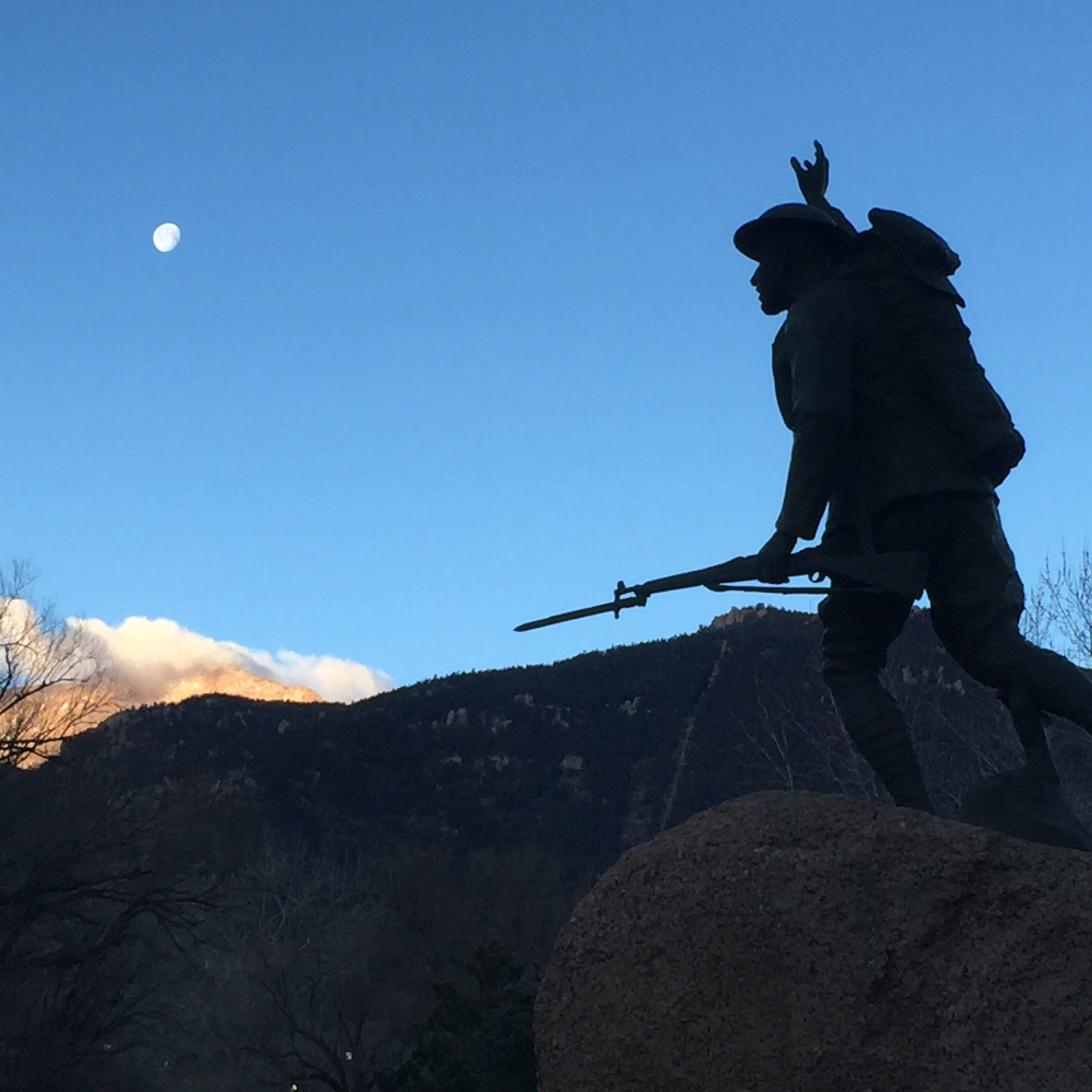 """A statue honoring Marine Corps Pvt. George Eber Duclo, born in 1893. """"Eber,"""" as he was known, was an only child who moved to Manitou when he was 4 years old."""