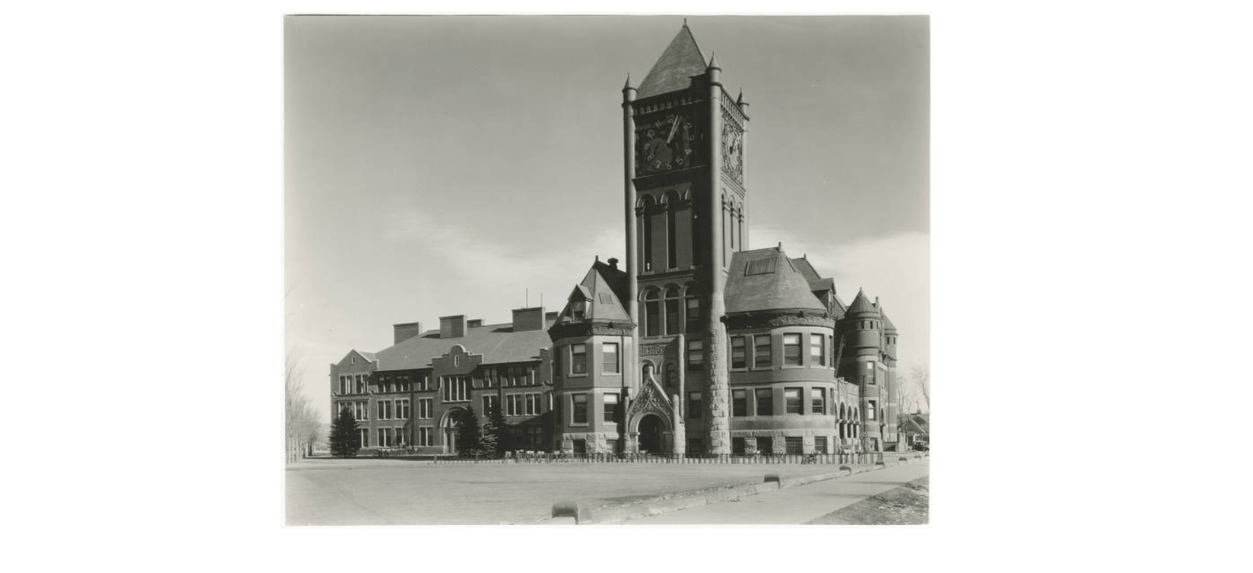 Colorado Springs High School was built in 1892. It was later razed to make way for what is now Palmer High School.