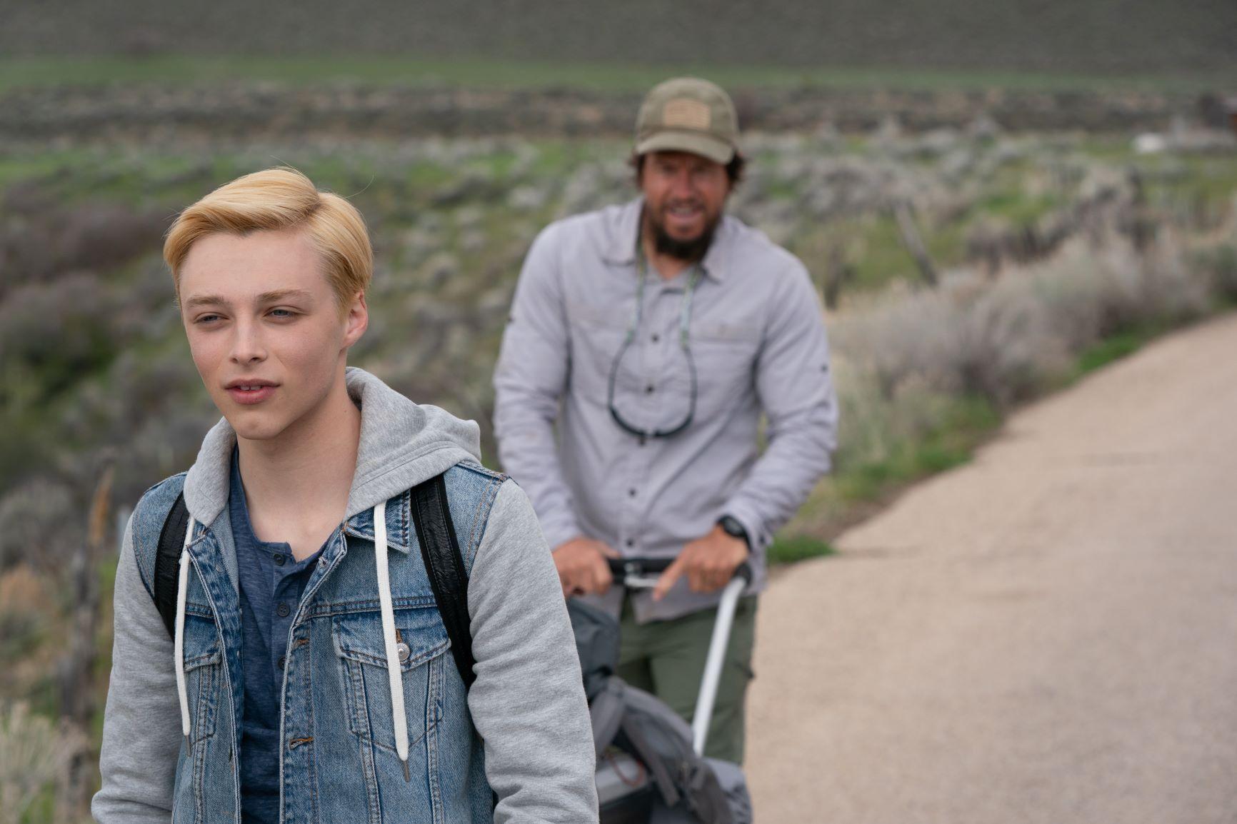 """Reid Miller and Mark Wahlberg in """"Joe Bell."""""""