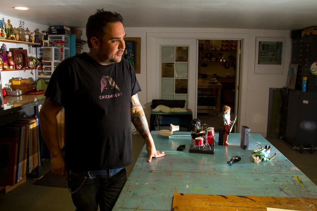 John Johnston presides over his workshop. (Kevin J. Beaty/Denverite)  denver; denverite; colorado; art; nirvana; kurt cobain