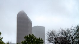 Cloudy skies in downtown Denver. (Kevin J. Beaty/Denverite)  rain; foggy; weather; clouds; denver; colorado; denverite; kevinjbeaty