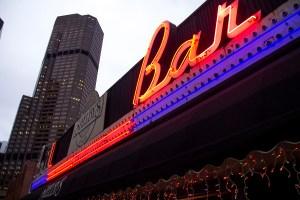 Shelby's Bar near the 18th and California Street RTD stop. (Kevin J. Beaty/Denverite)  shelbys; dive; light rail; train; transportation; bars; food; dining; drinks; denver; denverite; colorado; kevinjbeaty