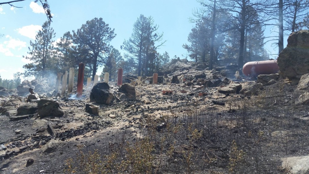 Rubble marks the remains of one of several houses destroyed by the Cold Springs Fire. (Chief Jeff Berino / Lake Dillon Fire-Rescue)