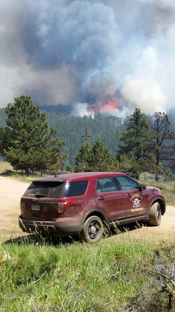 Firefighters from all over Colorado, and several other states, are racing to contain the Cold Springs Fire. (Chief Jeff Merino / Lake Dillon Fire-Rescue)