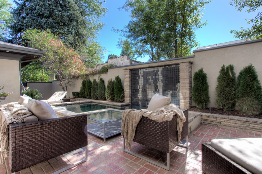The back courtyard of 278 Dahlia Street. (Courtesy Coldwell Banker Residential Brokerage)