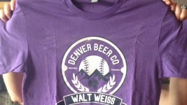 A Denver Beer. Co. Walt Weiss T-shirt that Charlie Berger tried to send to the Colorado Rockies manager. (Denverite)