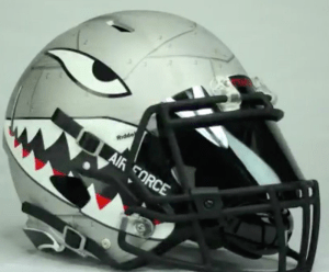 The helmets Air Force will wear Sept. 10. (Photo provided by Air Force)